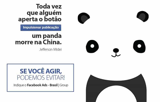 campanha salvar os pandas