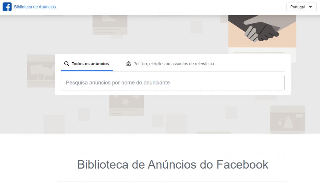 biblioteca de anuncios no facebook