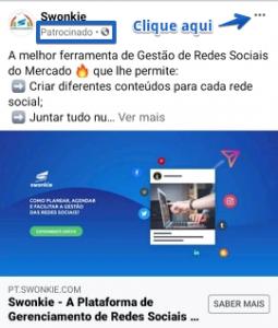 espiar a sua concorrência em anúncio do facebook usando a swonkie como exemplo